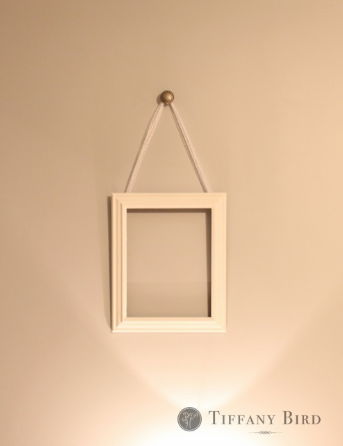 Simply modern mom diy ribbon hanging wall frames tutorial for Hanging frames on walls