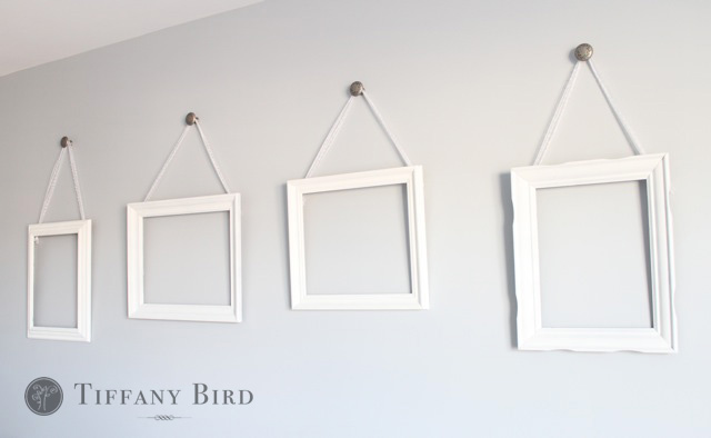 Simply Modern Mom » DIY Ribbon Hanging Wall Frames Tutorial