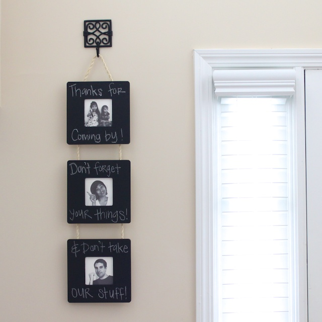 Simply Modern Mom » Chalkboard Frame Wall Hanging