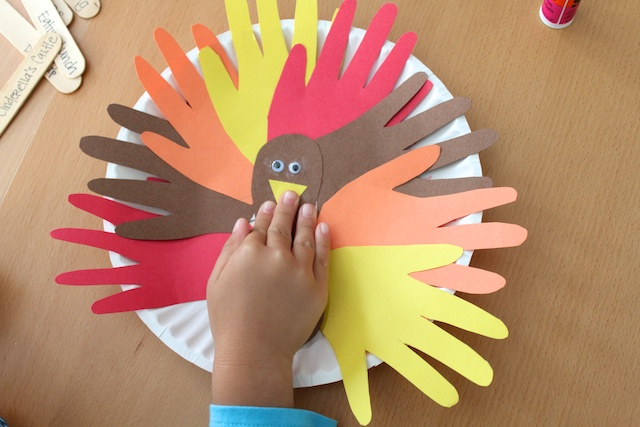 8. & Simply Modern Mom » Thankful Paper Plate Turkey Tutorial