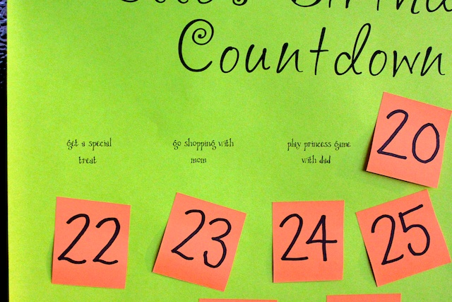 Simply Modern Mom » Birthday Countdown Tradition