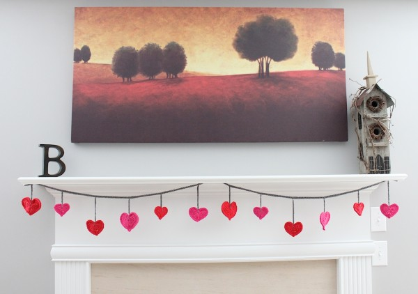 crochet heart garland 3