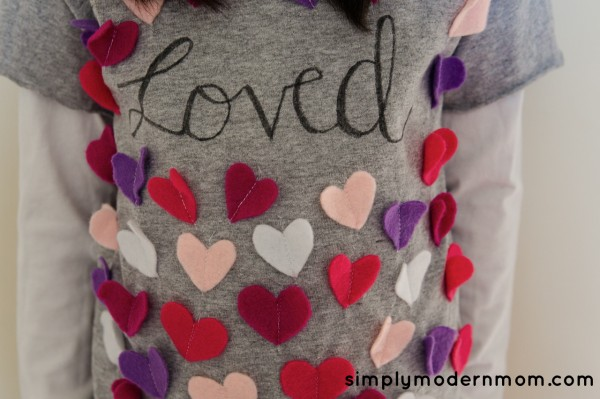 100th day Valentines shirt