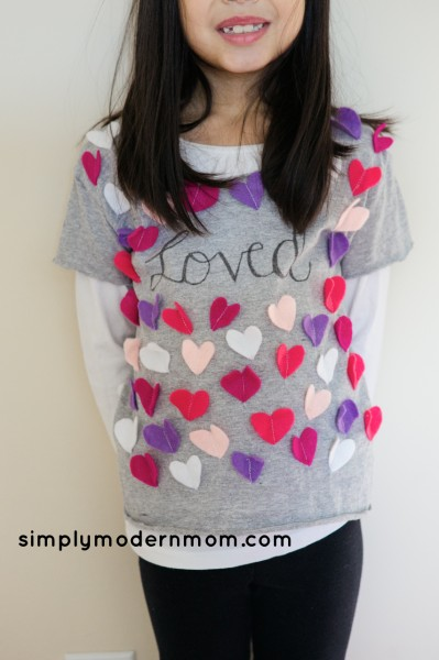 100th day Valentines shirt front